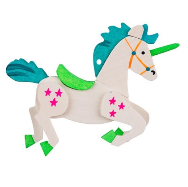 Unicorn (Aquamarine Gem) - Christmas Tree Decoration