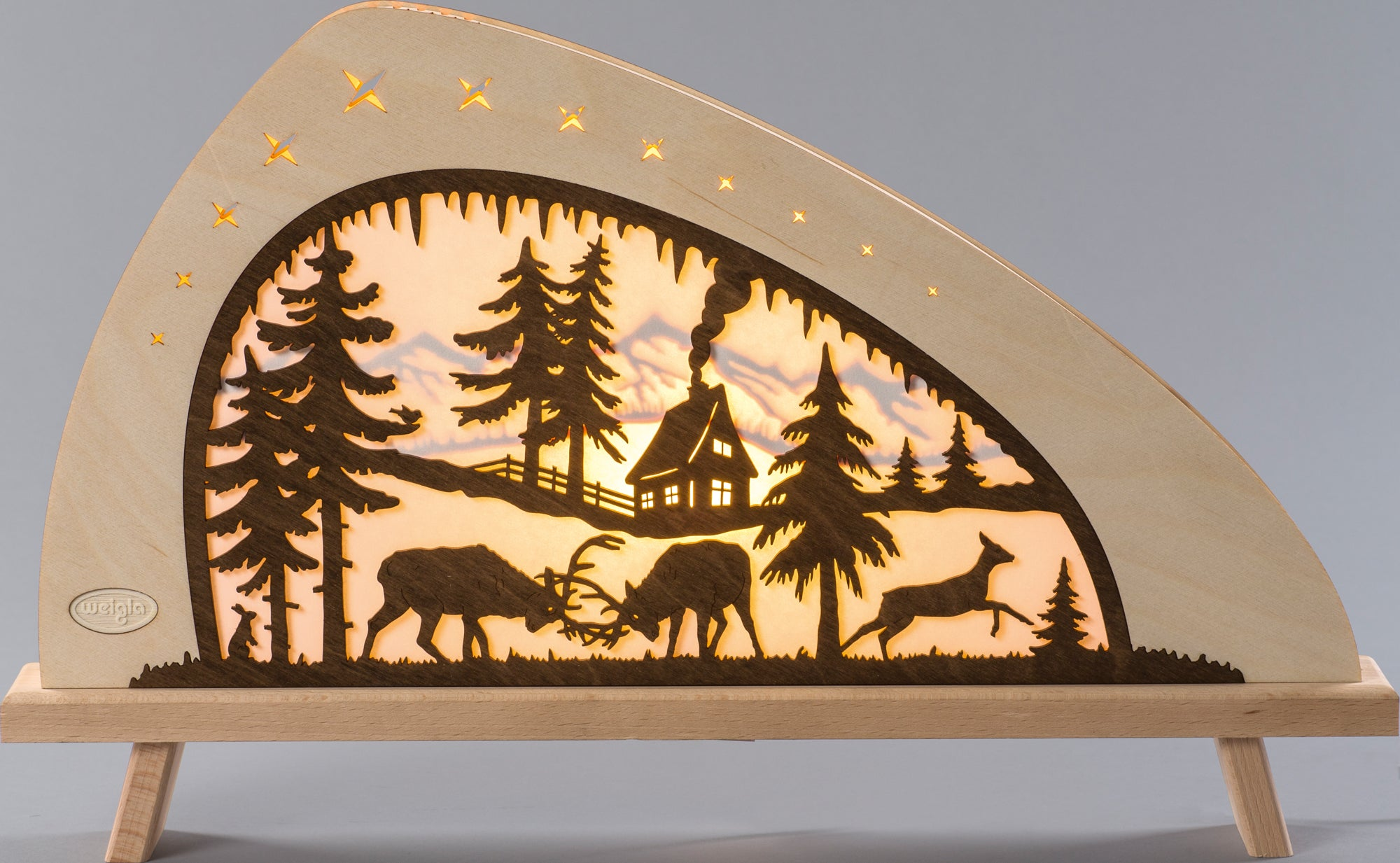 Lighted Arch (Schwibbogan) - Fairytale - Deer Family