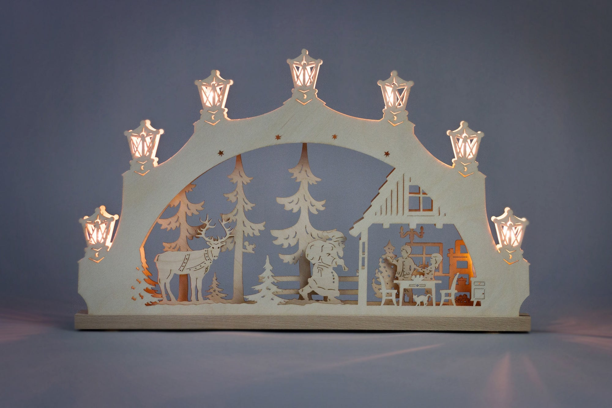 Lighted Arch (Schwibbogan) - Classic - Nordic Santa