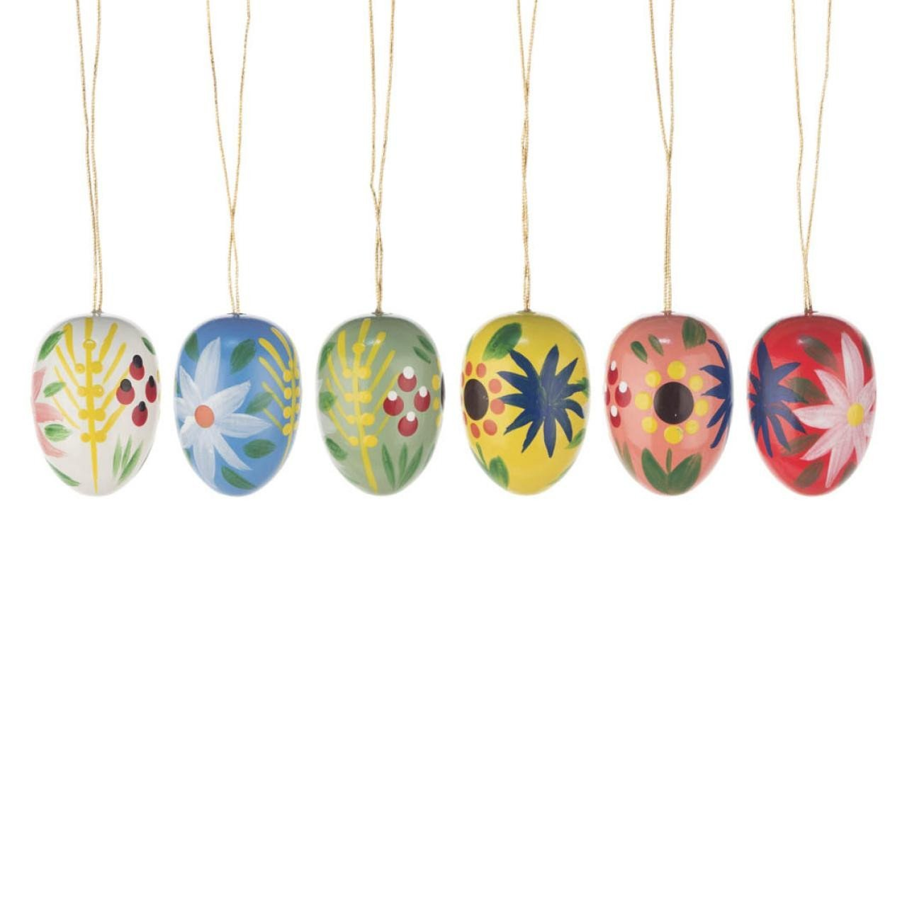 Easter Tree Decoration - Lillies and Sunflowers (Set of 6)