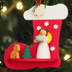 Angel in a Stocking (Forest Bunny) - Christmas Tree Decoration