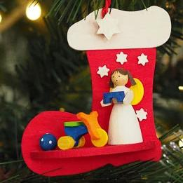 Angel in a Stocking (Tricycle and Ball) - Christmas Tree Decoration