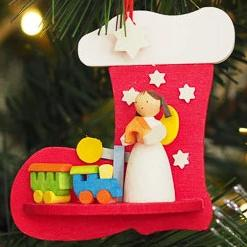 Angel in a Stocking (Train Set) - Christmas Tree Decoration