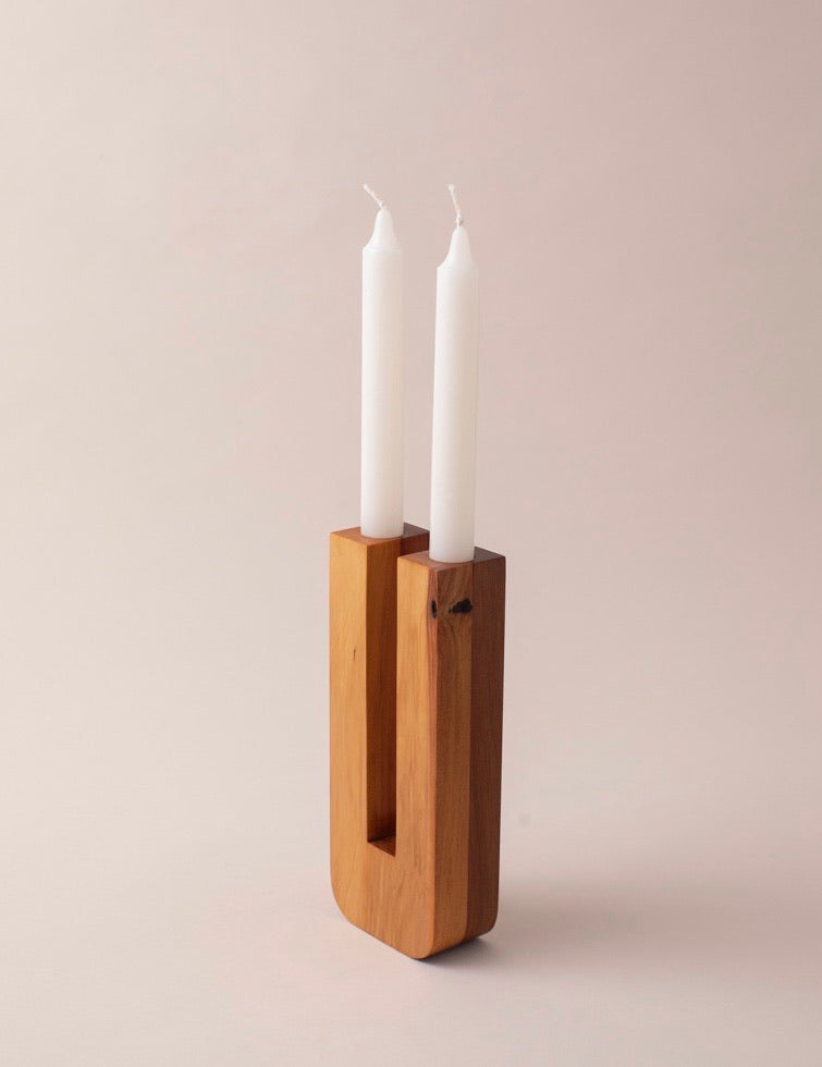 TWO.TWO CANDLEHOLDER / HALF AND HALF