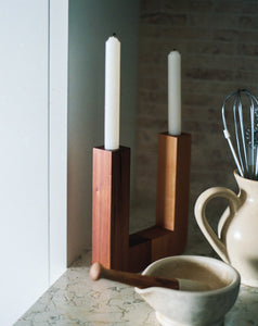 TWO.TWO CANDLEHOLDER / WIDE TWO TONE