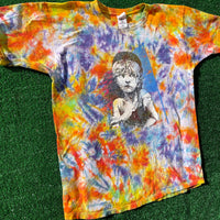 les mis upcycled tie dye shirt - XL