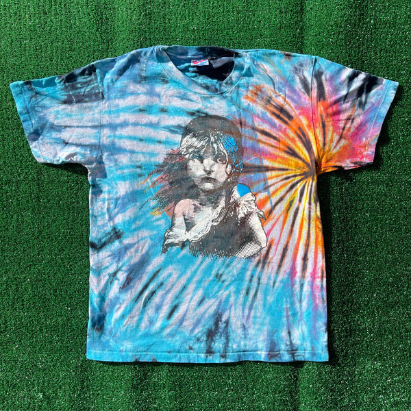 les mis upcycled tie dye shirt - large