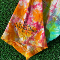 les mis upcycled tie dye shirt - small