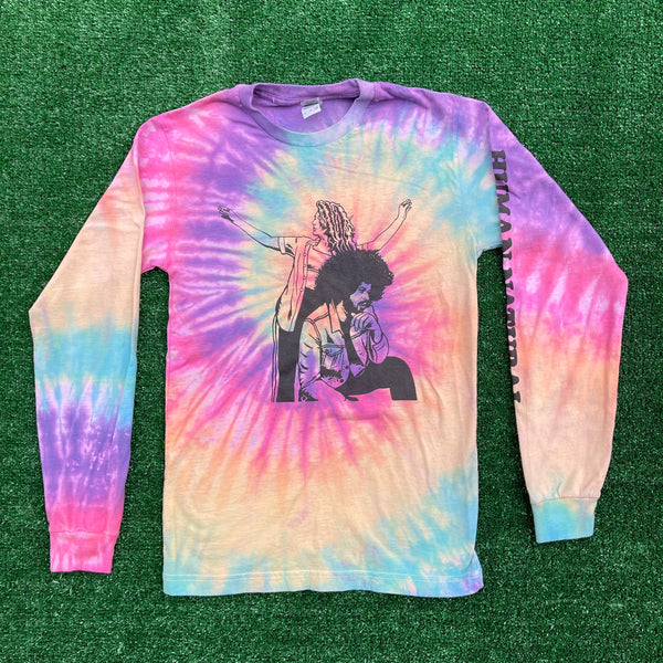 human natural tie dye long sleeve - small