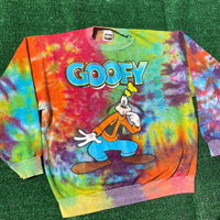 GOOFY upcycled tie dye sweater - large/XL