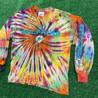 miami dolphins upcycled long sleeve - large