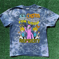 """wicked cheetos"" tie dye tee - large"