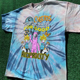 """wicked cheetos"" tie dye tee - XL"