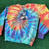 les miserables upcycled tie dye sweater - L/XL