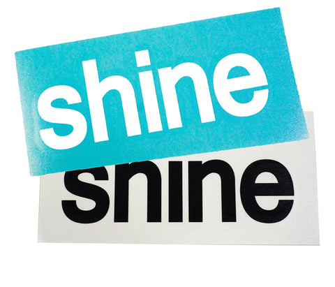 "Shine® 5"" Black and White Vinyl Decals"