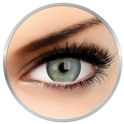 Tulip - green colored contact lenses 1 pr 3 months replacement + 1 drawstring satin bag + lenses case