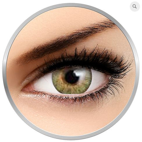 Allure Green colored contact lenses 1 pr + satin drawstring bag + 1 lenses case.
