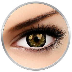 Big Eye Brown Charm colored contact lenses 1 pr. (3 months repl.) + drawstring bag + lenses case