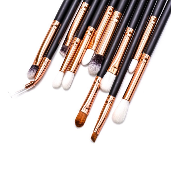 Professional 12pc eye make up brushes with case.