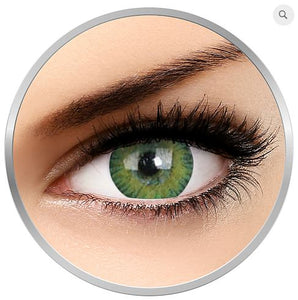 Tritone Green Colored contact lenses 1 pr + 1 satin bag + 1 lenses case