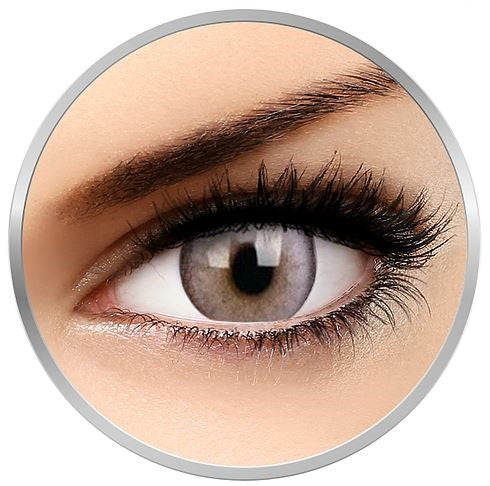 Tritone Ash Grey colored contact lenses