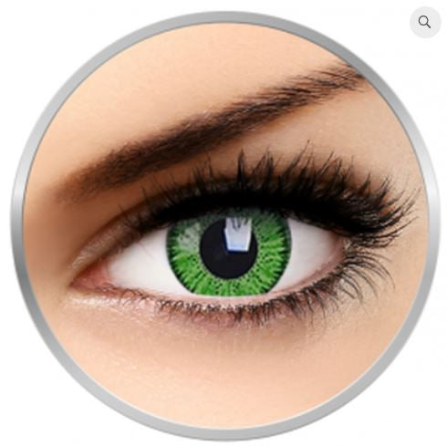 Vicon green colored contact lenses 1 pr + 1 drawstring bag + 1 lenses case