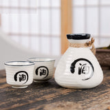 White Ceramic Japanese Sake Set