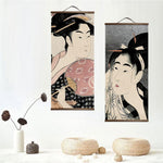 Traditional Ukiyoe Canvas Scroll Art