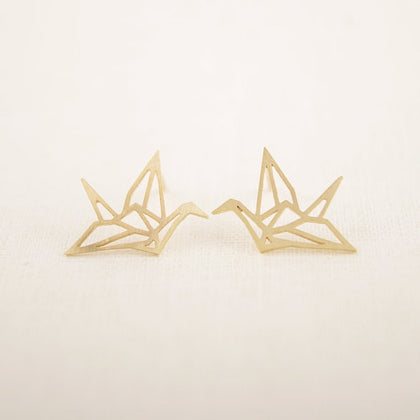 Beautiful Japanese Crane Earrings