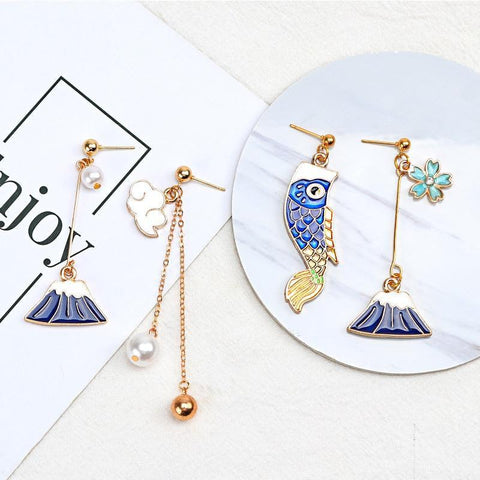 Cute Kawaii Japanese Earrings