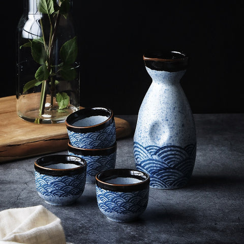 Japanese Ceramic Sake Wine Set