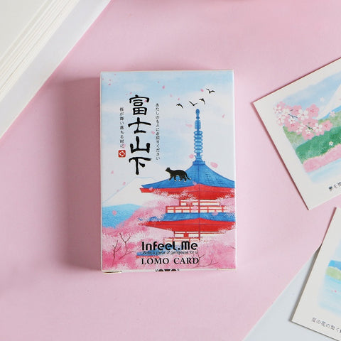 Japan Sakura Art Postcards