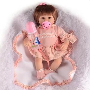 Reborn Baby Dolls Cloth Body with Clothes Kids Gift