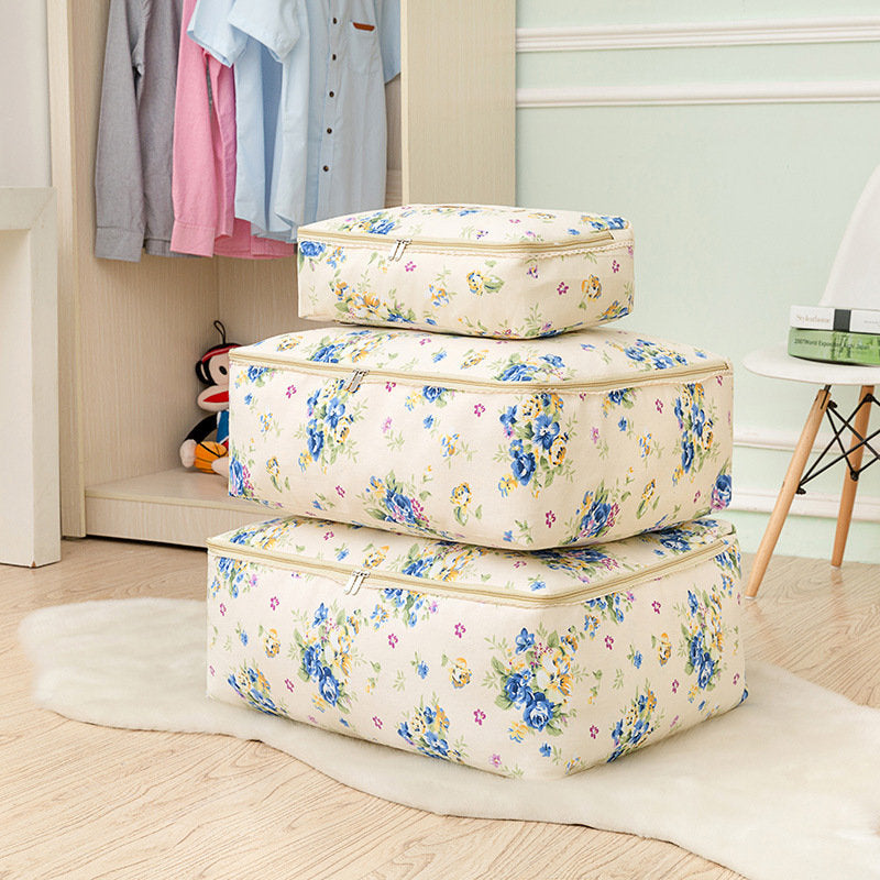 Machine Washable Cotton Linen Clothing Bag Quilt Cabinet Sorting Storage Bag Organizer