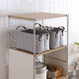 Felt Storage Basket Closet Toy Book Hamper Laundry Bag Shelf Box Organizer