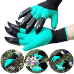 2Pcs Gardening Digging Gloves Planting Rubber Left Hand Claws and Right Hand Claws Grip Gloves