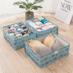 Oxford Cloth Underwear Bra Scoks Storage Box Washable Collapsible Drawer Organizer