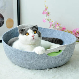 Cat bed Cat basket Dog bed sofa Cat door for all cats and small dogs in the shape of a design pot 45 * 45 * 15 cm