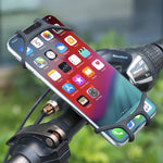 Silicone Bicycle Phone Holder For iPhone Universal Motorcycle Bike Stand GPS Bracket For 4.0-6.3inch Mobile Phone