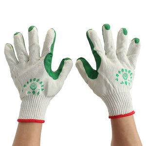 12 Pairs Rubber Knitwrist Knitted Wrist Gloves Builder Handling Work Garden Gauntlets