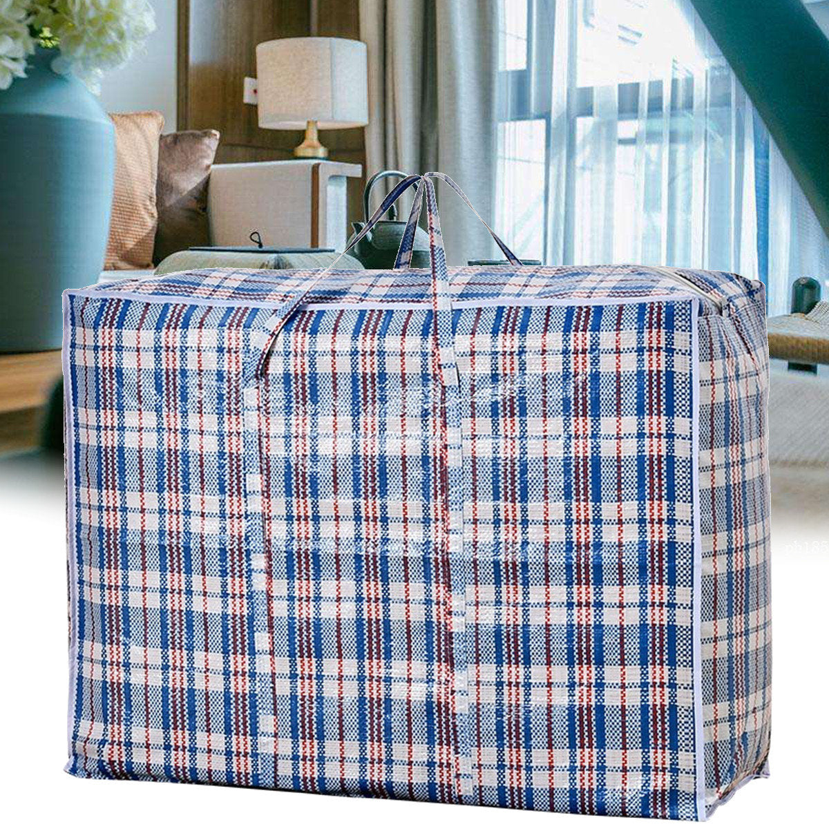 6PCS Extra Large Storage Bags Packing Bag Clothes Moving Travel Small Medium Bulk