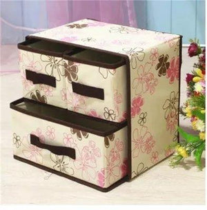 Three Layer Five Drawer Underwear Socks Bras Storage Box
