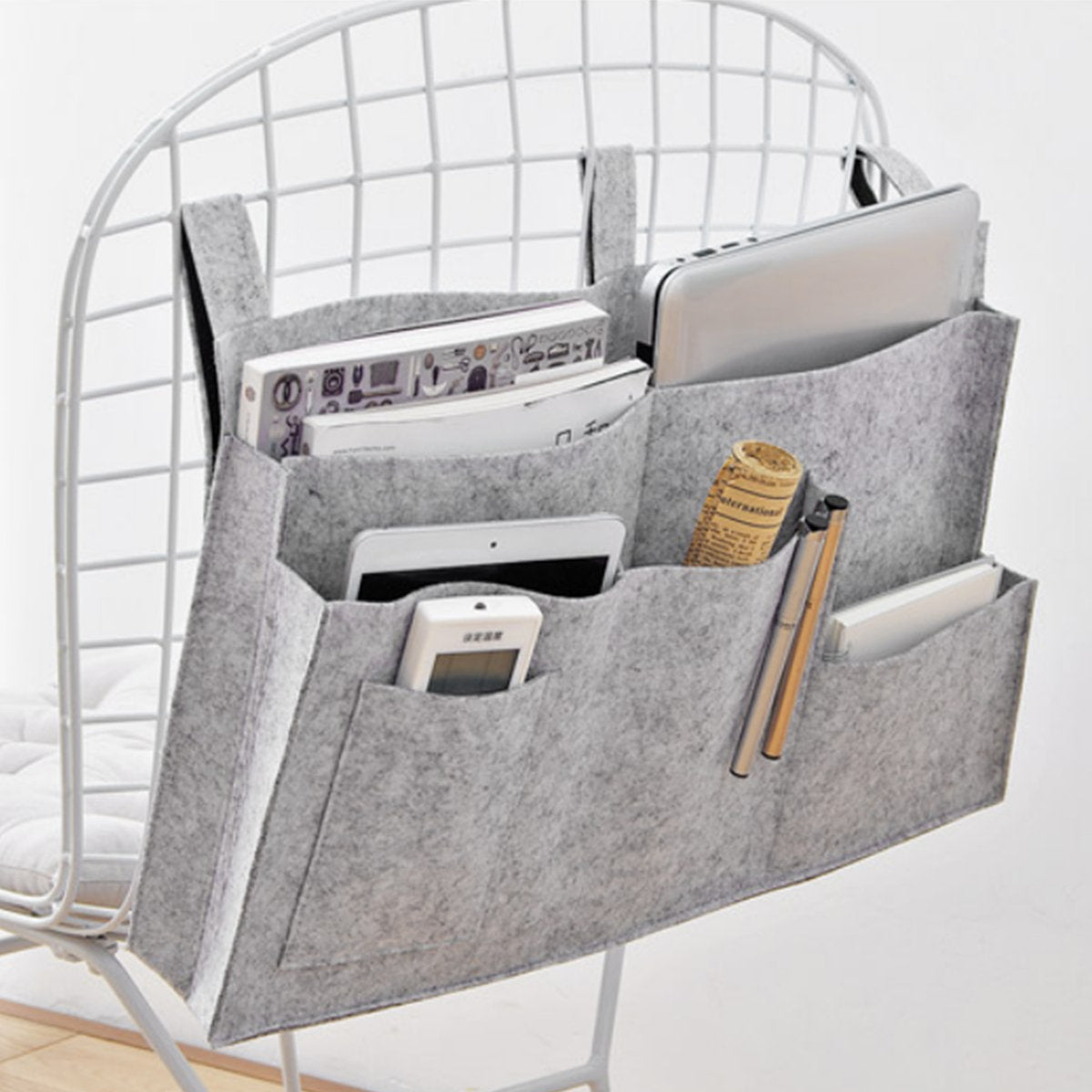 Felt Bedside Storage Bag Diaper Storage Bag Sofa Shelf