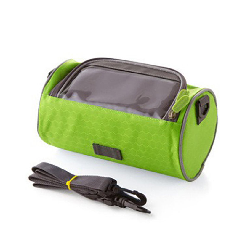 Oxford Cloth Material Zipper Solid Color Outdoor Sports Riding Bag Bicycle Visual Storage Bag