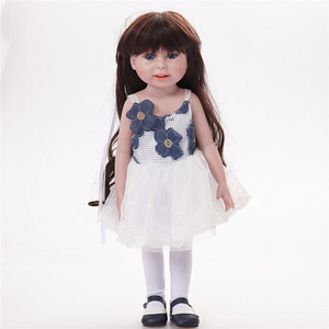 Lovely Girl Dolls 18'' Reborn Dolls Handmade Changing Clothes Girl Doll Gifts For Girl