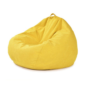 Solid Color Cotton Large Bean Bag Chair Big Joe Home Living Room Lazy Sofa Bedroom Indoor Beanbag