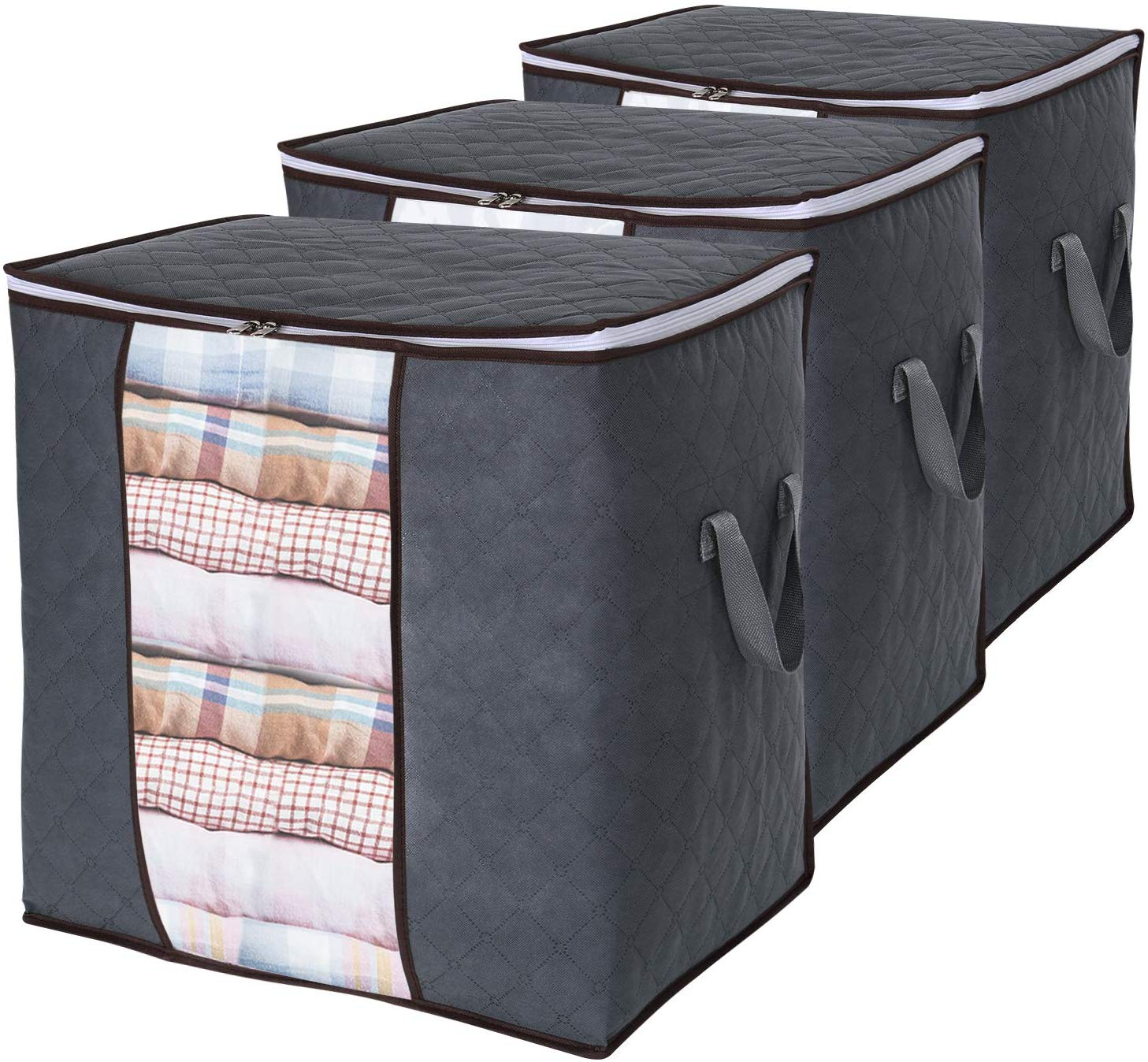 Clothes Storage Bag 90L Large Capacity Organizer with Reinforced Handle