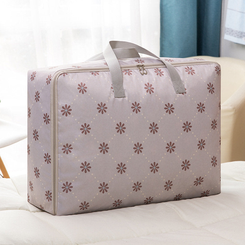 Zipper Portable Quilt Clothes Storage Bag Home Travel Storage Handbag