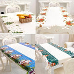 New Disposable Merry Christmas Rectangular Printed PVC Cartoon Tablecloth 110*180cm