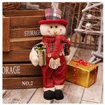 New Christmas Dolls Large Santa Snowman Figurine Christmas Gifts Toys for Home Christmas Decorations